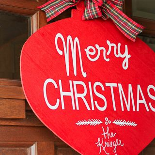 Personalized Merry Christmas Sign