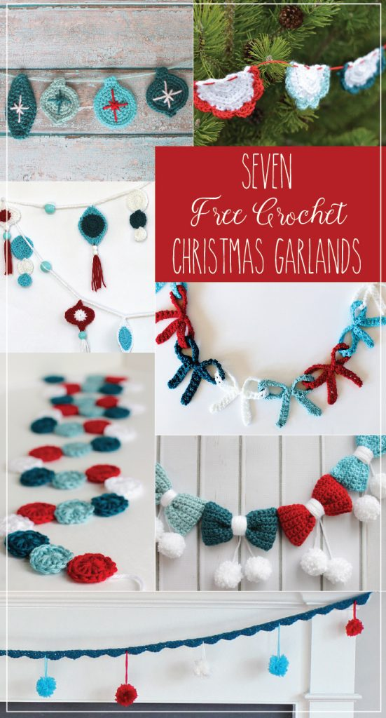 Seven Free Crochet Christmas Garlands (1)
