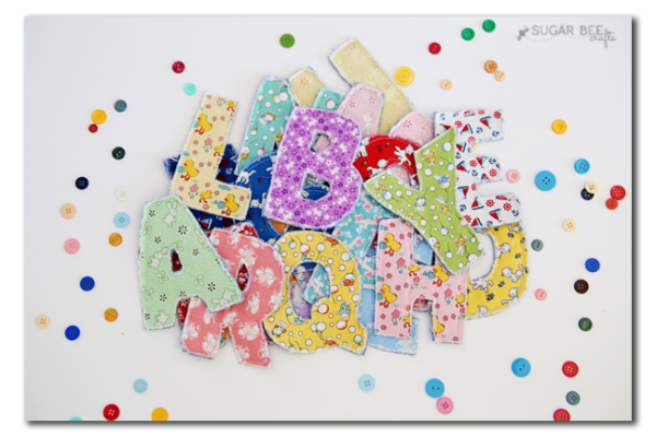 Alphabet letters with penny rose riley blake toy chest