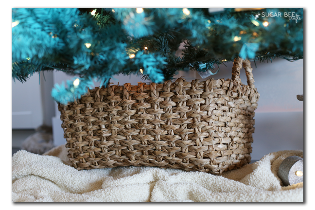 basket tree stand christmas
