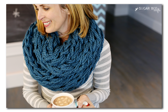 diy arm knit cowl