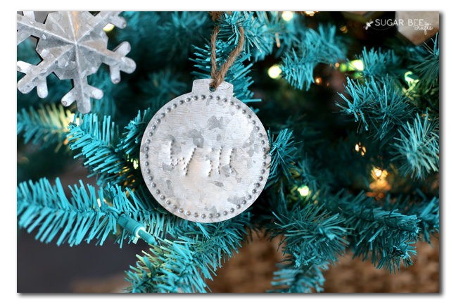 diy personalized metal ornament