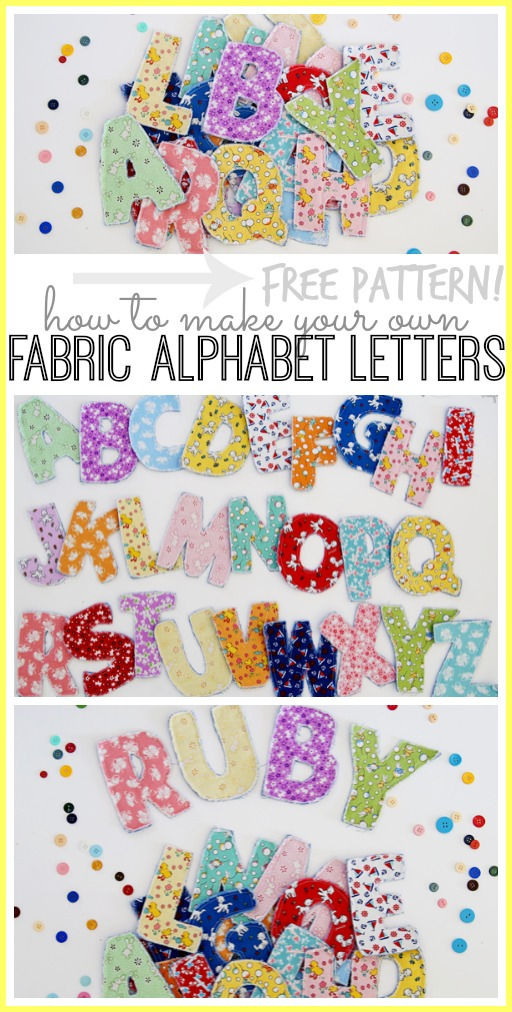 fabric alphabet letters how to tutorial with free pattern