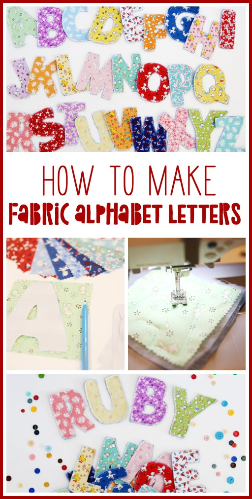 How to make fabric alphabet letters simple sewing project idea