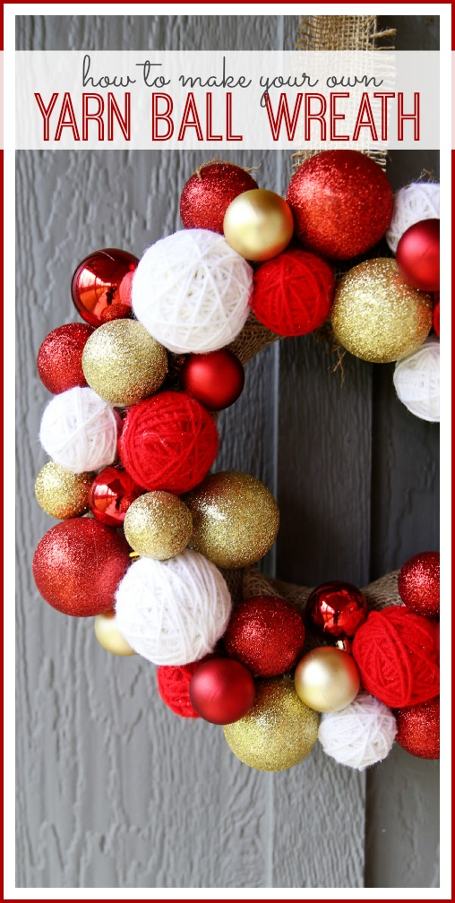 how to make your own yarn ball wreath