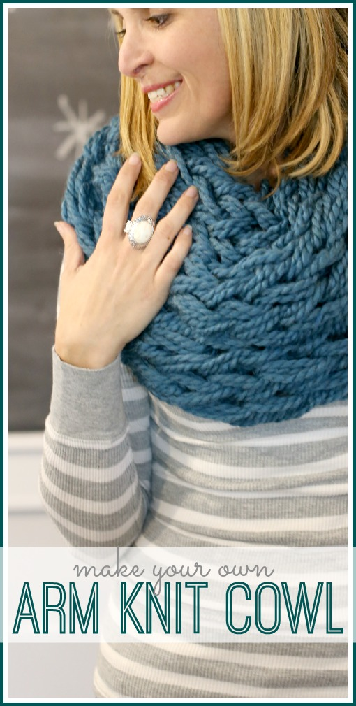 make your own arm knit cowl