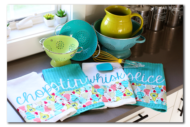 Custom Kitchen Towels (and giveaway!) - Sugar Bee Crafts