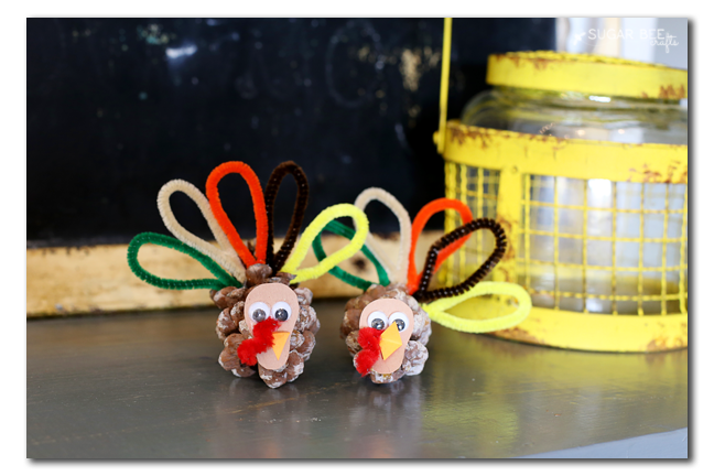 pinecone turkey kids craft copy
