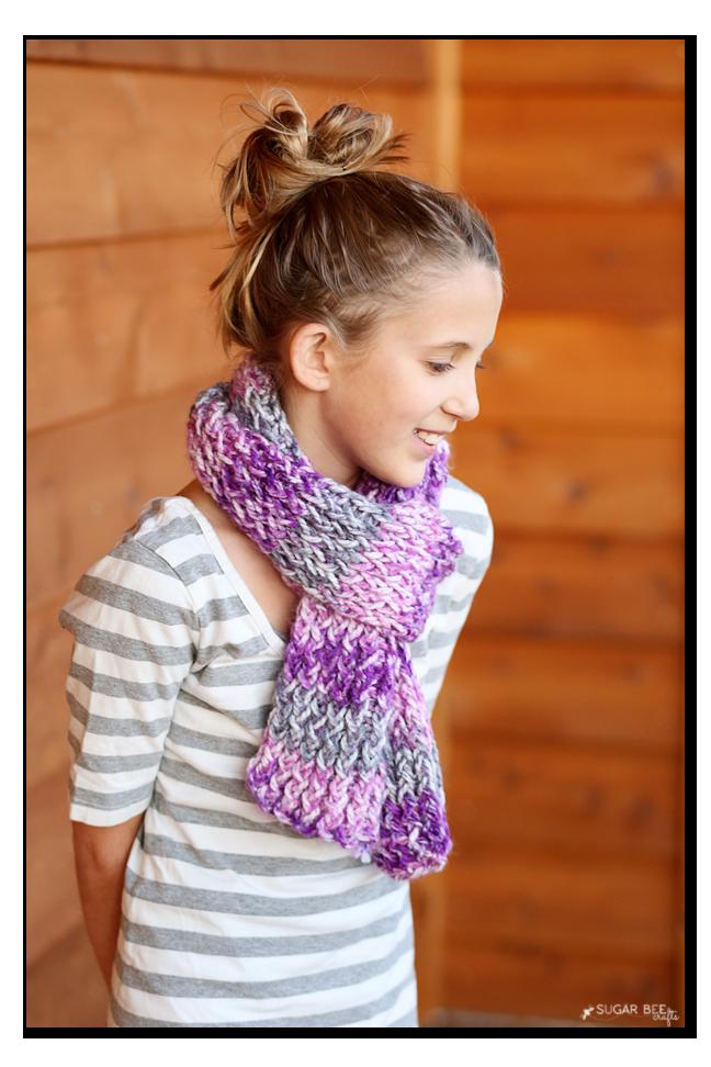 tween loom knit scarf