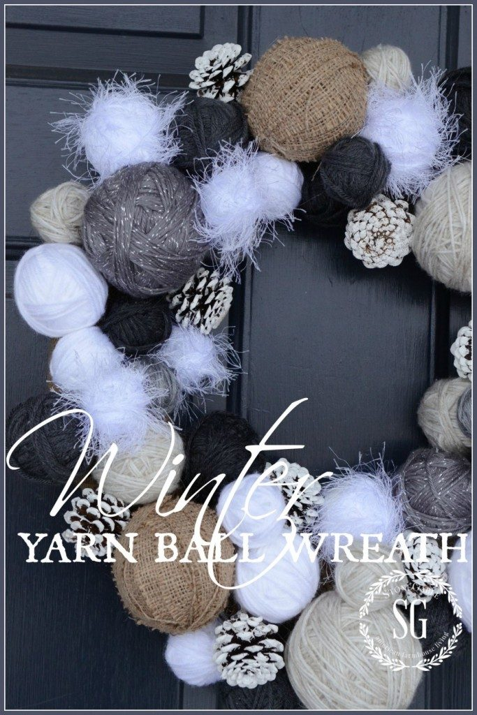 YARN-BALL-WREATH-soft-fuzzy-and-perfect-for-a-winter-welcome-at-the-front-door-stonegableblog.com_-683x1024