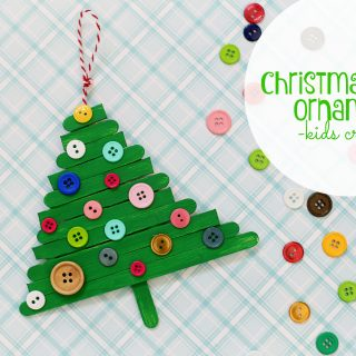 Christmas tree ornament kids craft