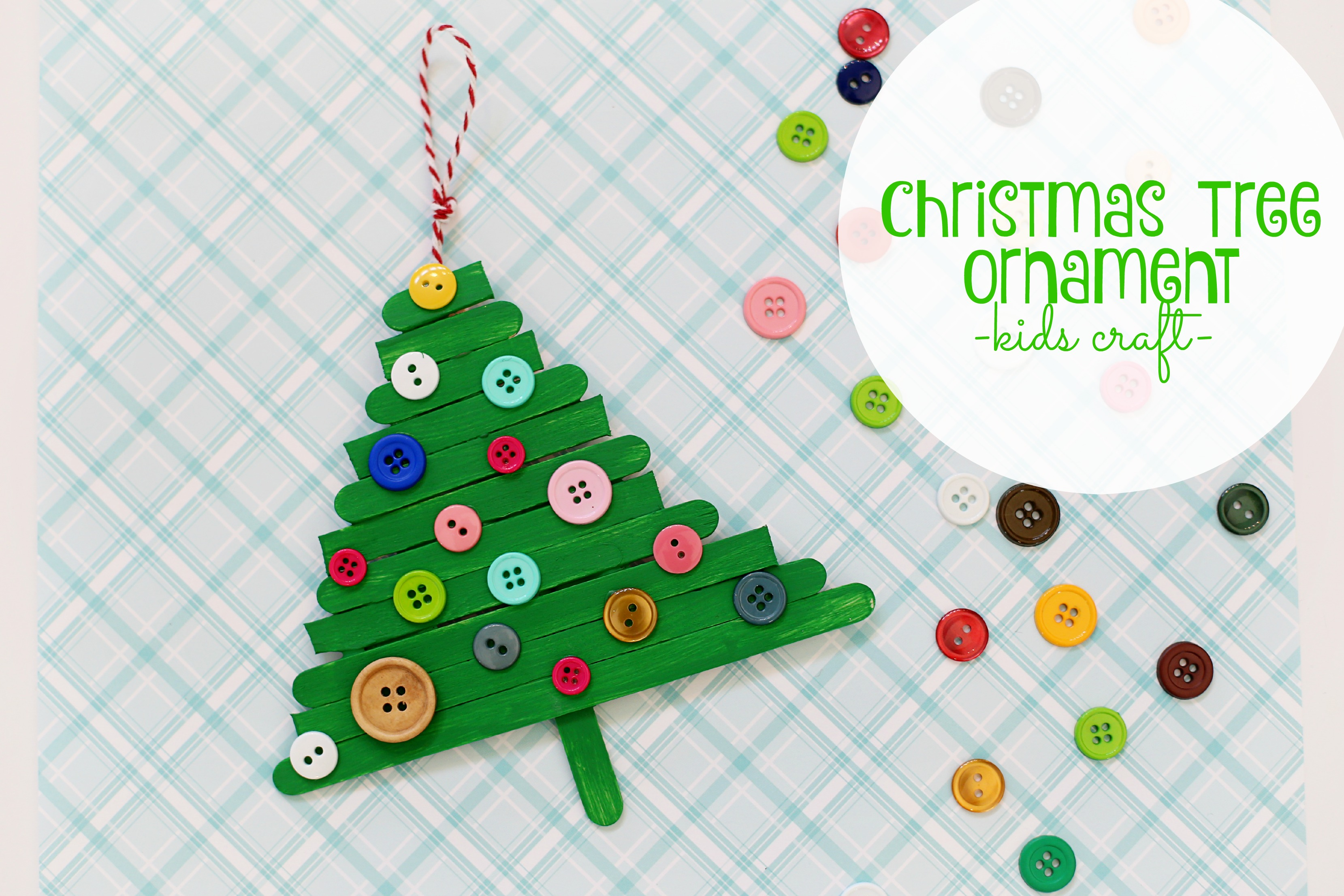 christmas tree ornament kids craft - Christmas Tree Decorations For Kids