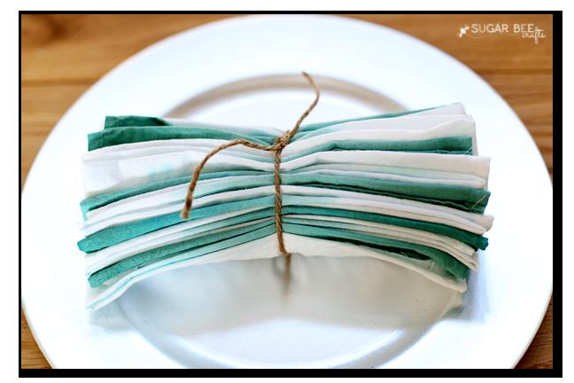 dip dye ombre napkins gift idea