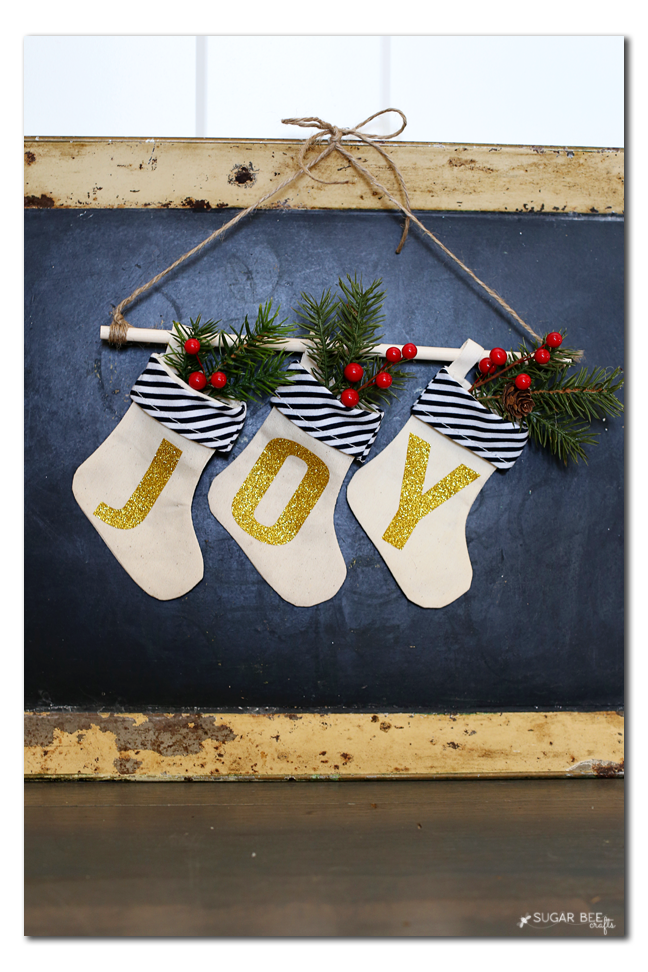 holiday decor diy glitter joy