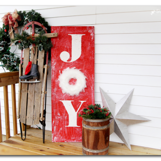 joy porch holiday sign decor