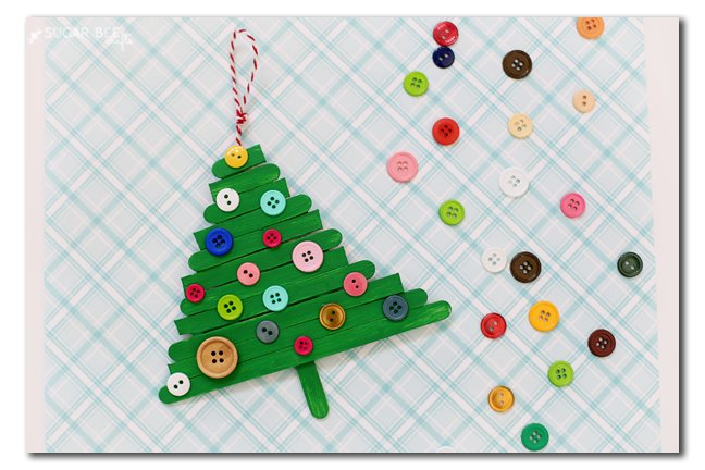 kids christmas tree ornament craft
