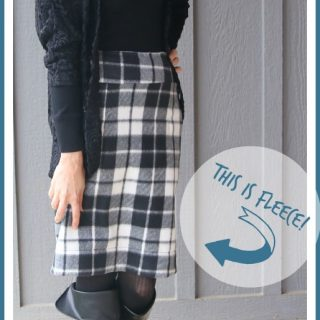make sew a skirt out of fleece fabric