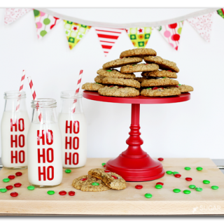 Make your own vinyl milk jar holiday santa