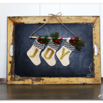 Mini Joy Stockings Banner (and vinyl giveaway!)