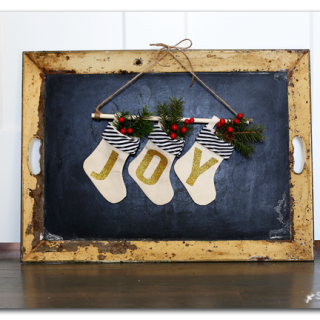 Mini joy stocking banner