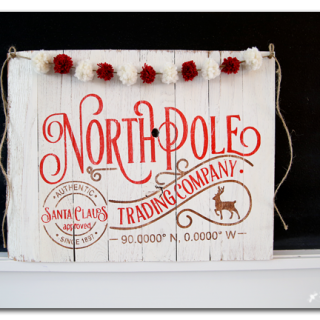 North pole holiday sign diy copy