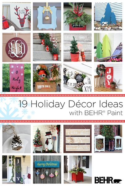 outdoor paint holiday ideas