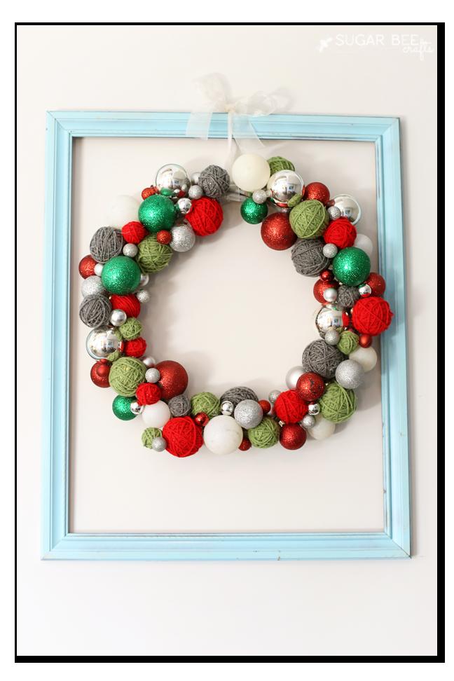 yarn-ball-ornament-wreath