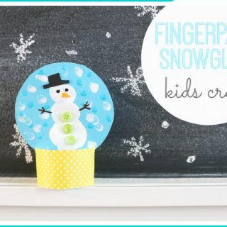 Fingerpaint Snowglobe Kid's Craft