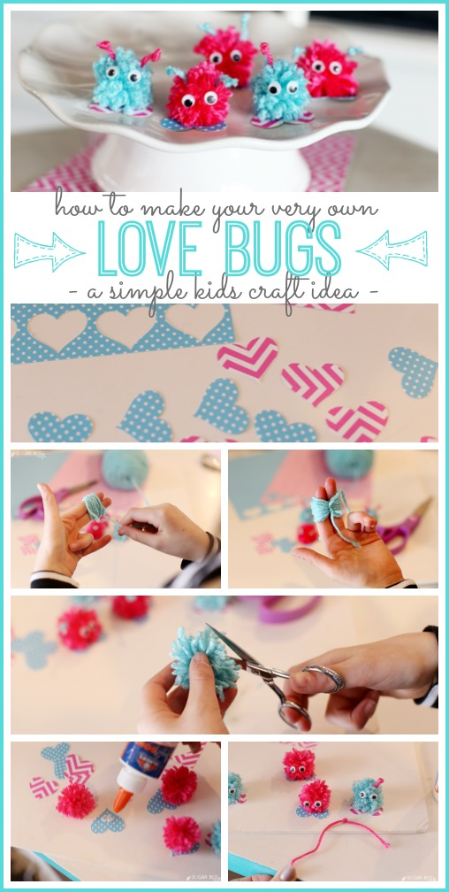 how to make your own love bugs kid craft idea