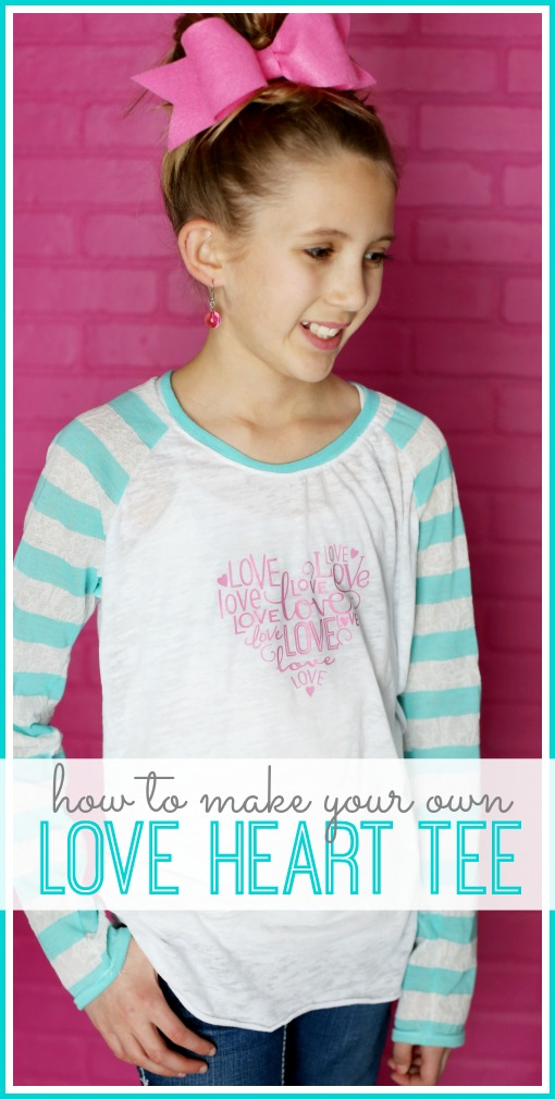 how to make your own love heart tee