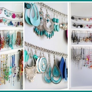 Jewelry organizer simple idea