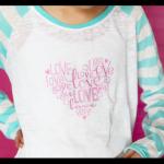 love heart vinyl diy shirt copy