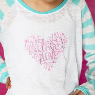 Love heart vinyl diy shirt x