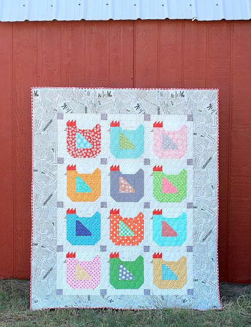 Fabric Chicken Quilt Idea