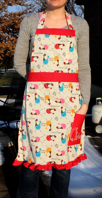 Chicken apron pattern sewing project idea