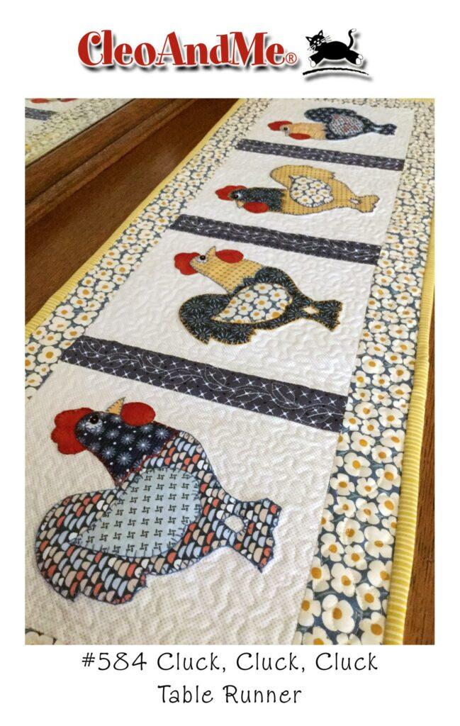 Chicken table runner pattern