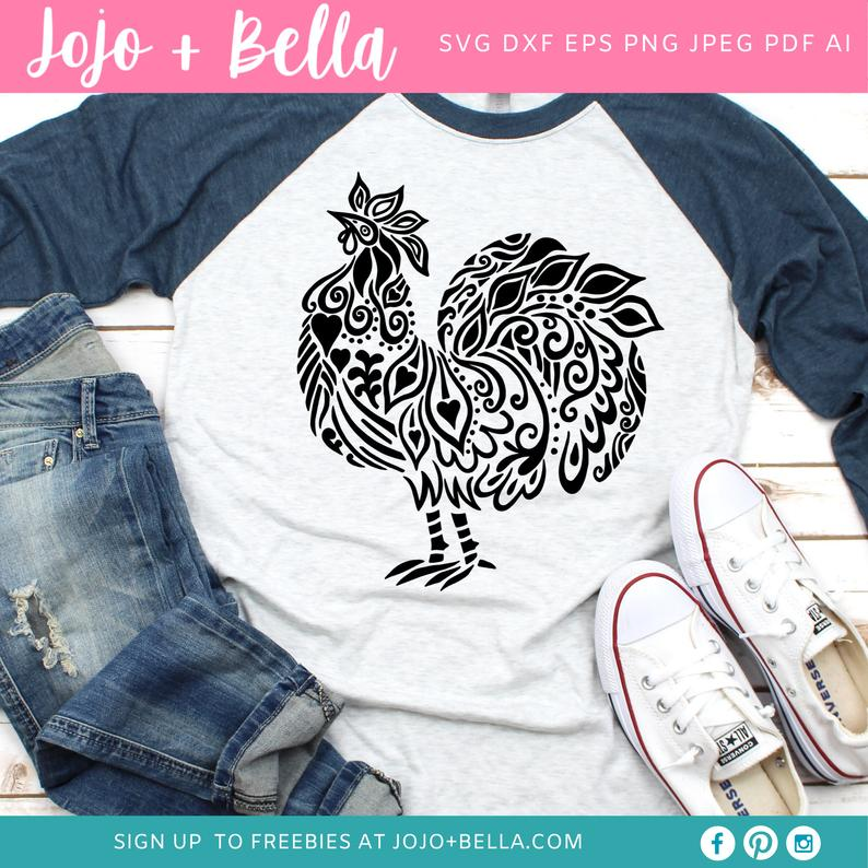 Chicken tshirt svg idea
