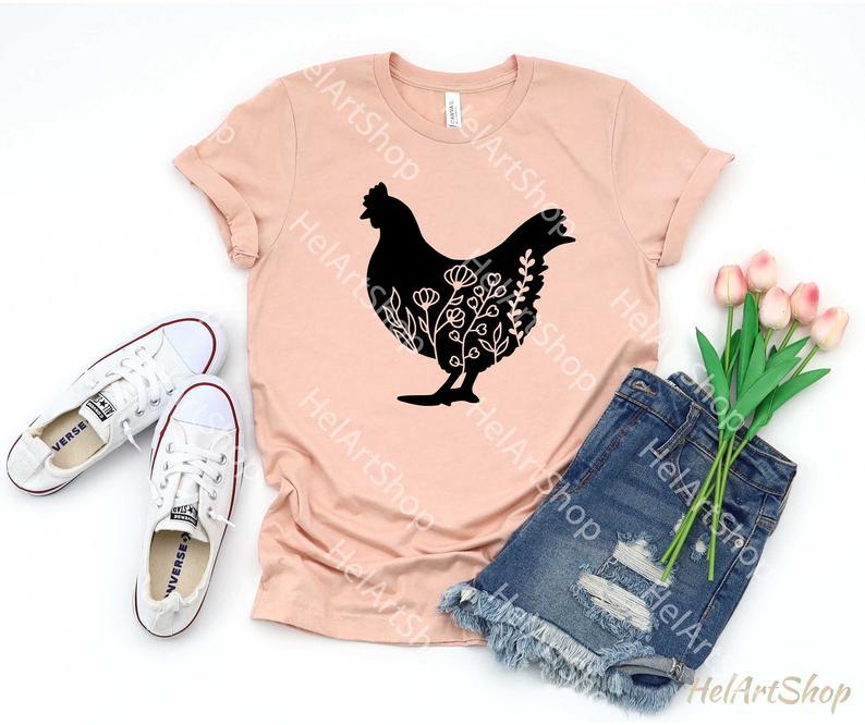 Chicken tshirt svg