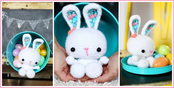 11 Crochet Bunny Patterns -Easter Fun - A More Crafty Life | 307x606
