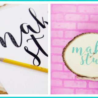 Draw on wood without a stencil tutorial
