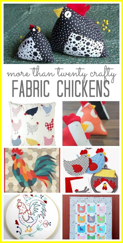 Fabric chicken craft ideas 1
