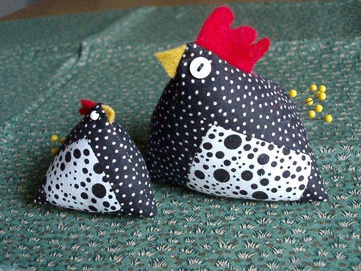 Fabric Chicken Roundup Sugar Bee Crafts