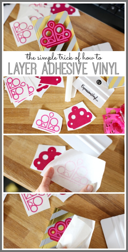 how to layer adhesive vinyl