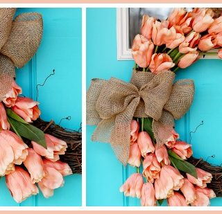 make your own spring tulip wreath