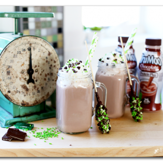 Mint hot chocolate milk