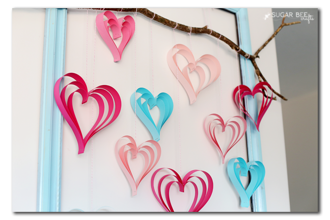 paper strip heart craft