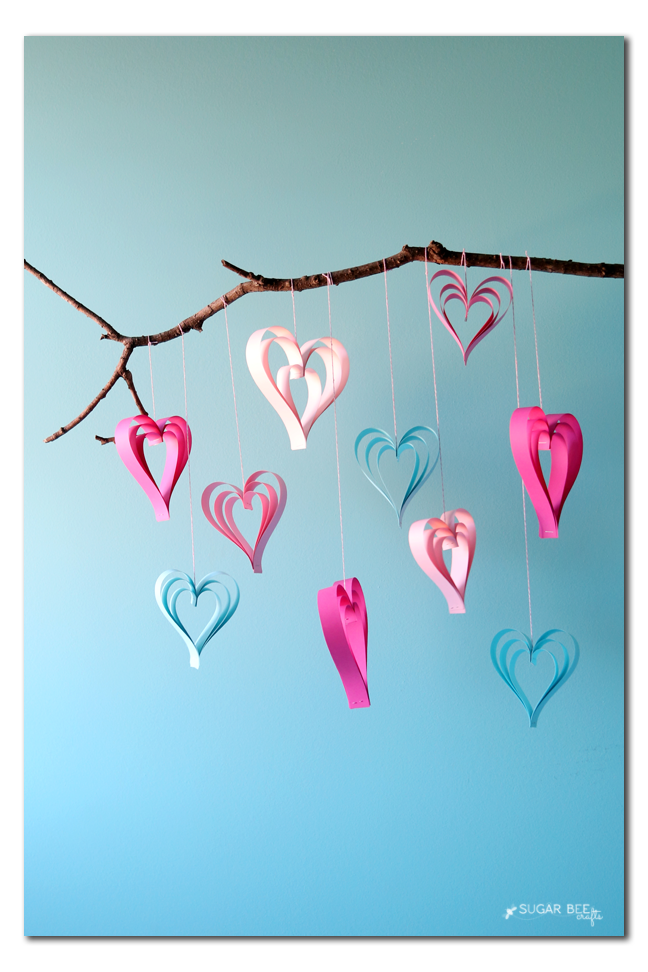 paper strip heart decor simple