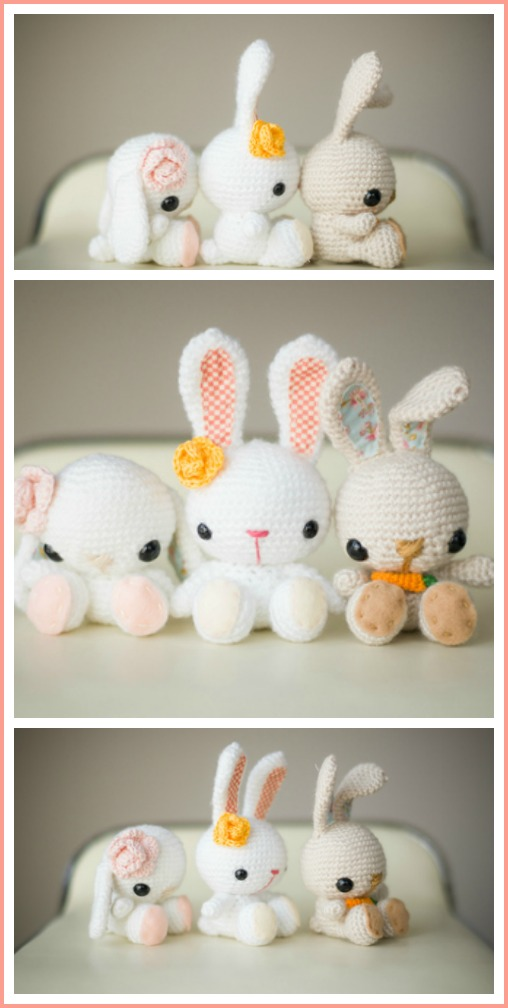 spring bunny crochet pattern all about ami