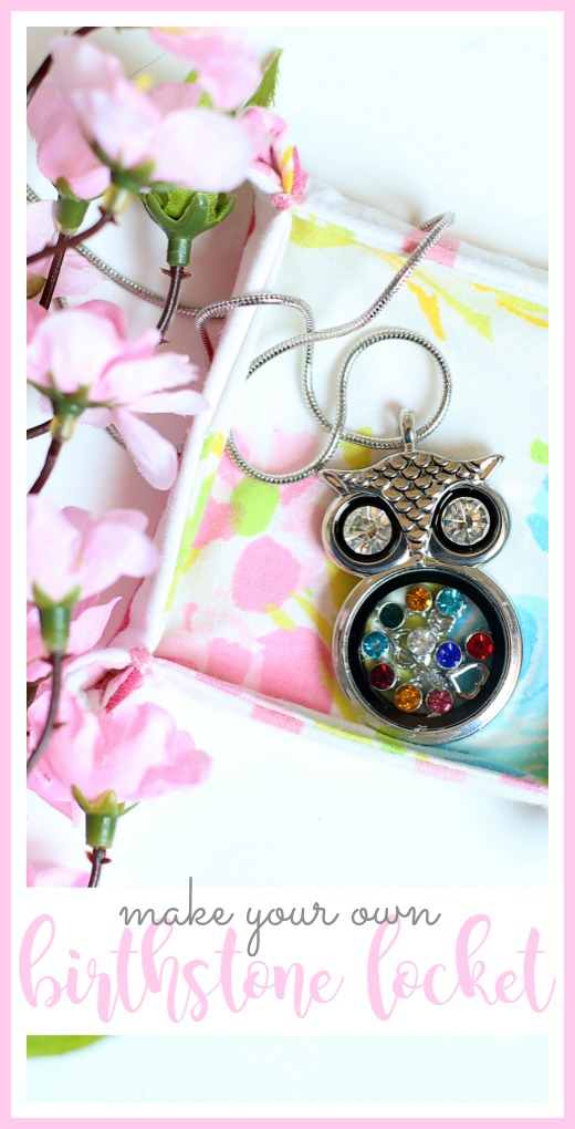 birthstone locket gift idea