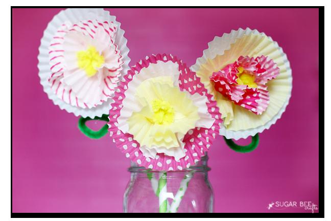 cupcake liner flowers copy